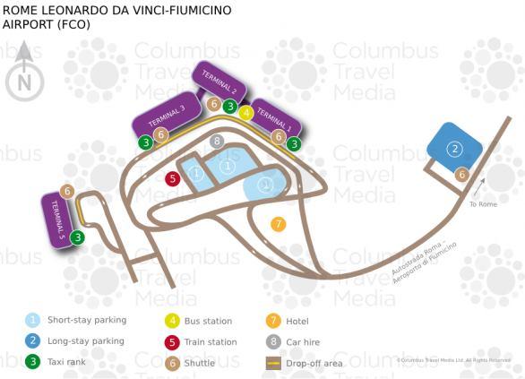 Přílety odlety a terminál letiště Řím Fiumicino