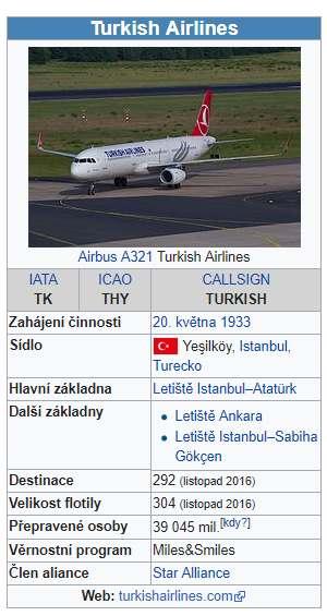 Turkish Airlines letecká společnost