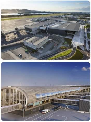 Letiště v Norsku Oslo a Bergen