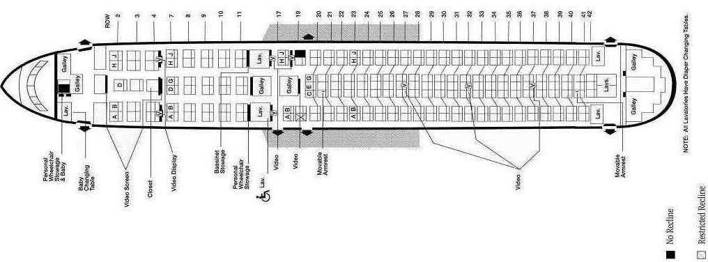 Boeing 767 sedadla