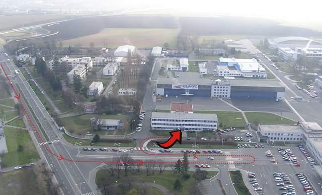 Budova Úřadu civlního letectví Praha Ruzyně