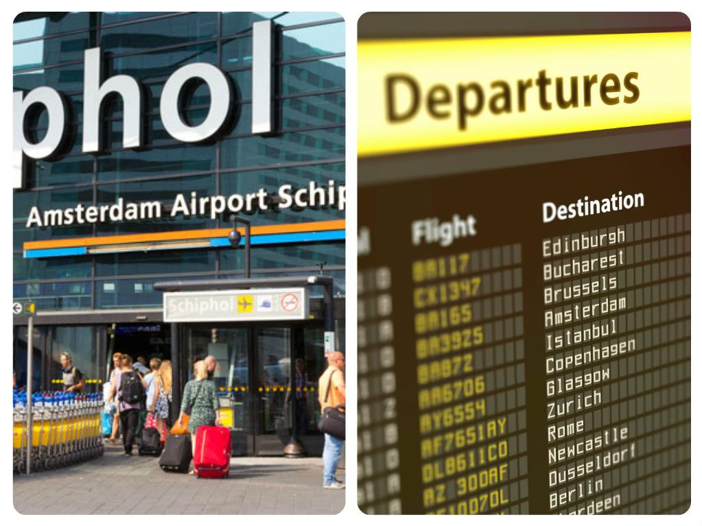 Letiště Amsterdam přílety odlety