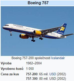 Boeing 757 letadlo