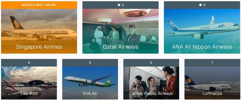 Žebříček 7 nejlepších leteckých společností na světě