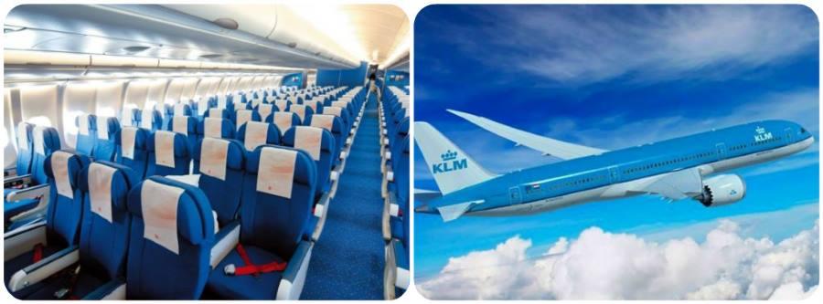 Letecká společnost KLM letadla a sedadla