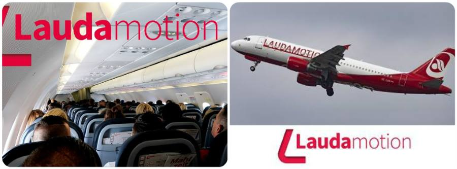Letecká společnost Laudamotion letadlo sedadla