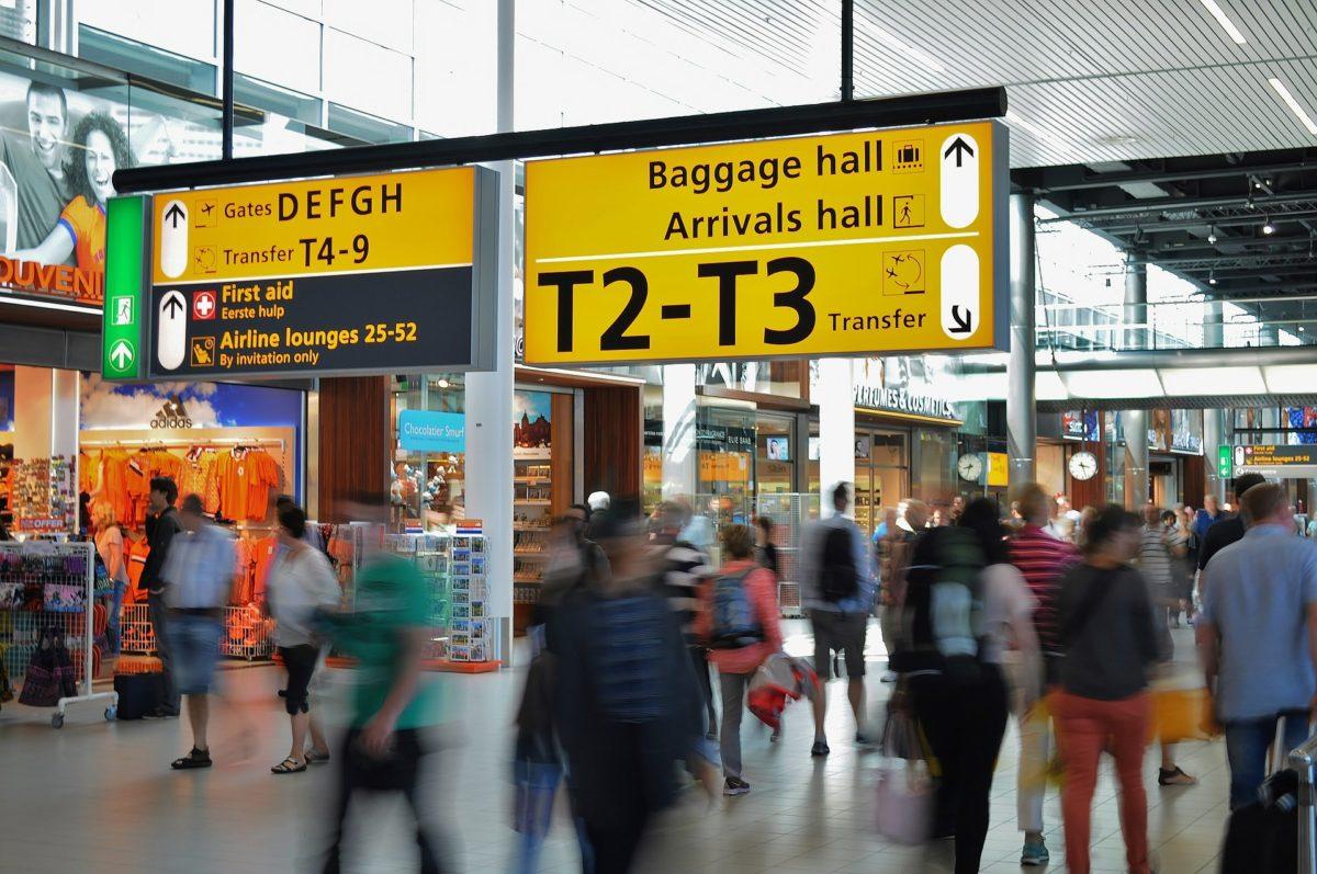 Stres v terminálu před odletem